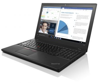 "Ноутбук Lenovo ThinkPad T560 15.6"" 1920x1080 (Full HD) Intel Core i7 6600U 8 ГБ SSD 256GB Intel HD Graphics 520 Windows 7 Professional 64 + Windows 10 Pro 64, 20FH001ART - фото 1"