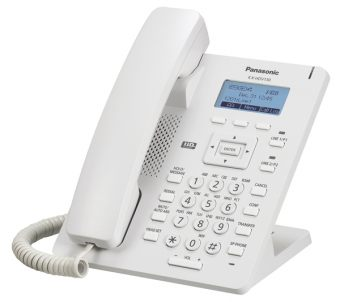 IP-телефон Panasonic - KX-HDV130, 1xLAN 10/100 Мб/с, 1xWAN 10/100 Мб/с, 2 prog. keys, SIP, web interface, LCD, PoE, headphone in, Белый, KX-HDV130RU
