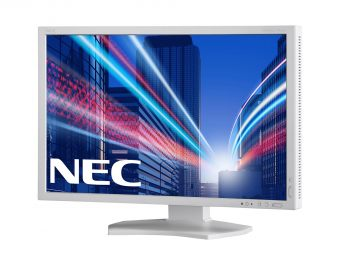 "Монитор NEC - PA242W-SV2, 24.1"", 16:10, LED, IPS, 16ms, 340cd/m², 1000:1, 1920x1200 (WUXGA), 85Hz, VGA, 1x DVI, 1x HDMI, 1x DP, USB-hub, HAS, pivot, цвет Белый, PA242W-SV2 - фото 1"