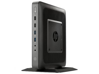 Тонкий клиент HP - t620, AMD G-Series GX-217GA 1650MHz, SODIMM DDR3L 4GB, 16GB, AMD Radeon HD 8280E, noDVD, Wi-Fi, Bluetooth, Чёрный, HP ThinPro 32, F5A56AA - фото 1