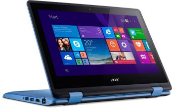 "Ноутбук-трансформер Acer Aspire R3-131T-C264 - 11.6"", 1366x768 (WXGA), Intel Celeron N3050 1600MHz, SODIMM DDR3L 2GB, SSD 32GB, Intel HD Graphics, Bluetooth, Wi-Fi, TouchScreen, noDVD, 4cell, Голубой, Windows 10 Home 64, NX.G10ER.005 - фото 1"