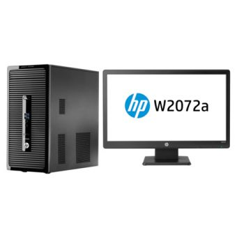 "Настольный компьютер с монитором HP - ProDesk 400 G2, Intel Core i5 4690S 3200MHz, DIMM DDR3 4GB, SATA III (6Gb/s) 3.5"" 500GB, Intel HD Graphics 4600, DVD-RW, Windows 8.1 Pro 64 downgrade Windows 7 Professional 64, L9T43EA - фото 1"
