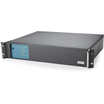 ИБП Powercom - KING PRO RM, 1500VA/900W, Line-Interactive, in (230V 1xIEC-320 C14), out (6xIEC-C320 C13), Hot Swap User Replaceable Batteries , Rack, 2U, цвет Чёрный, KIN-1500AP RM-2U - фото 1