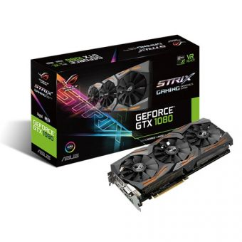 Видеокарта Asus nVidia GeForce GTX 1080 GDDR5X 8GB STRIX-GTX1080-A8G-GAMING - фото 1