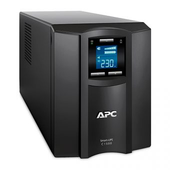 ИБП APC by Schneider Electric Smart-UPS C 1500VA/900W 230V Line-Interactive Hot Swap User Replaceable Batteries LCD Tower  SMC1500I - фото 1