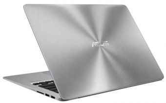 "Ультрабук Asus Zenbook UX310UA-FC051T - 13.3"", 1920x1080 (Full HD), Intel Core i3 6100U 2300MHz, SODIMM DDR4 4GB, HDD 1TB, Intel HD Graphics 520, Wi-Fi, noDVD, 3cell, Серебристый, Windows 10 Home 64, 90NB0CJ1-M04930 - фото 1"