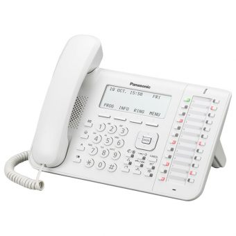 IP-телефон Panasonic - KX-NT546, 1xLAN 10/100 Мб/с, 1xWAN 10/100 Мб/с, 24 func. keys, LCD, PoE, headphone in, KX-NT546RU - фото 1
