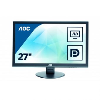 "Монитор AOC - E2752VQ, 27"", 16:9, LED, TN, 2ms, 300cd/m², 1000:1, 1920x1080 (Full HD), 76Hz, VGA, 1x DVI, 1x HDMI, 1x DP, speakers, цвет Чёрный, E2752VQ/01"