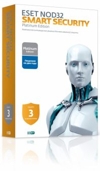 Право пользования ESET NOD32 Smart Security Platinum Рус. 3 Box 24 мес. NOD32-ESS-NS(BOX)-2-1