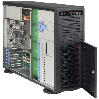 Корпус Supermicro SuperChassis 743TQ-1200B-SQ Full Tower 1200Вт Чёрный (E-ATX) CSE-743TQ-1200B-SQ