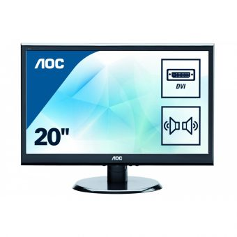 "Монитор AOC - E2050SWDA, 19.5"", 16:9, LED, TN, 5ms, 250cd/m², 1000:1, 1600x900 (HD+), Speakers, Чёрный, E2050SWDA/01 - фото 1"